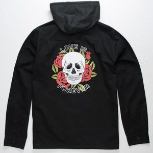 New RSQ Love Is Forever Mens Hooded Jacket